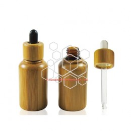 Bamboo eco friendly cosmetic packaging container for serum or essential oil