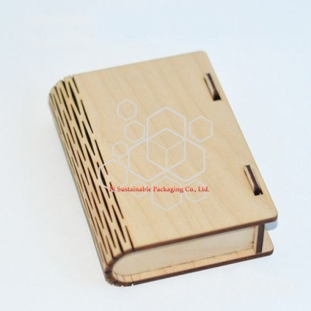 eco friendly wooden cosmetic packaging boxes design for serum or essential oil