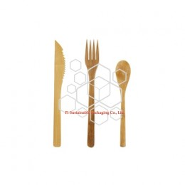 Best biodegradable & compostable bamboo disposable wedding cutlery set