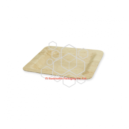 Biodegradable square bamboo leaf wholesale disposable plates
