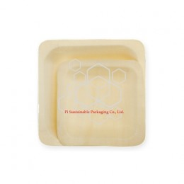 Eco friendly wooden square plates series