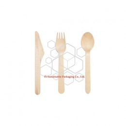 Personalised wooden economic cutlery set
