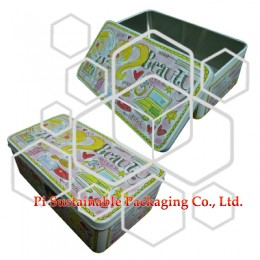 Beauty and makeup packaging companies provide square tin boxes for cosmetics supplies