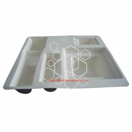 Hanhoo large compostable protective packaging tray for cosmetics packaging gift boxes