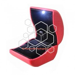 Custom modern luxury leather jewelry packaging gift boxes for women with LED light