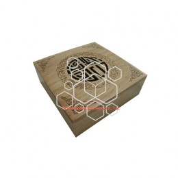 Engraved wooden men jewelry packaging gift boxes