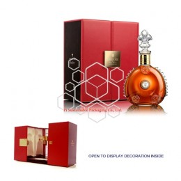 Louis XIII luxury custom leather and wooden wine  packaging presentation gift boxes design
