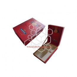 Luxe wine bottle presentation packaging boxes for Martell 1715