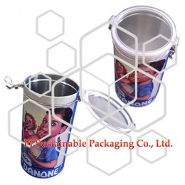Danone unique chocolate cookie metal packaging uk style gift boxes supplies