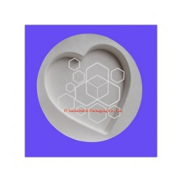 Biodegradable heart shaped empty candy chocolate truffle food grade packaging boxes supplies