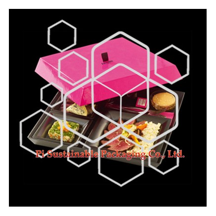 Unique paper food gift packaging boxes wholesale for Fauchon