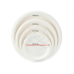 100% biodegradable and compostable wedding sugarcane paper pulp round plates series