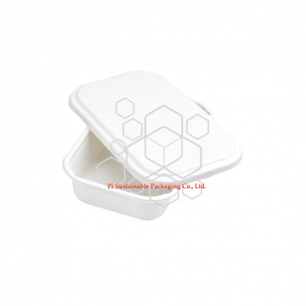 100% biodegradable food safe sugarcane pulp paper packaging containers with lids