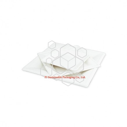 Biodegradable party sugarcane paper pulp disposable plates square series