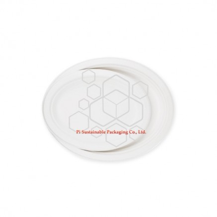 Eco friendly disposable Christmas sugarcane paper pulp oval plates series