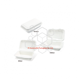 Take out biodegradable sugarcane paper pulp food grade packaging containers