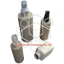 Sustainable customize cosmetic beauty shampoo packaging sanitizer spray pump bottles supplies made of natural plant base polymer apply to essential oil and serum