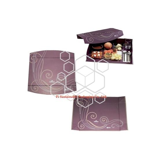 Las empresas de envasado de alimentos respetuosos con el medio ambiente proporcionan creativamente cajas de regalo de cubierta dura para alimentos sostenibles.