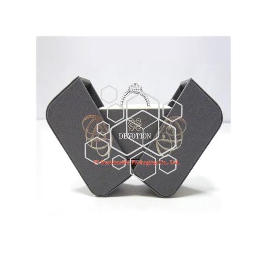 Caja de empaquetado de lujo mens joyas pantalla