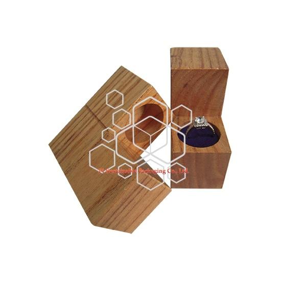 Einzigartige Gravur Holz Mädchen ring Schmuck-box