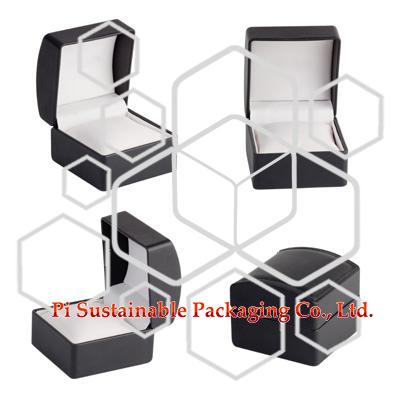 Personalisierte Leder Ohrring Schmuck Verpackung Boxen Zubehör