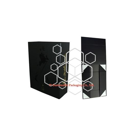 Johnie walker etiqueta negra plegable vino caja de regalo por mayor