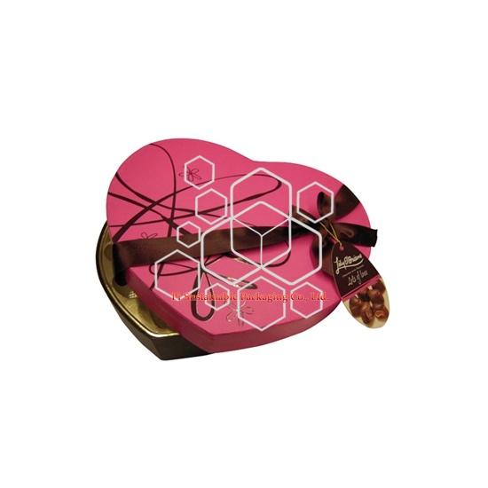 Vente en gros de Lily en forme de coeur bonbons chocolat boîtes d'emballage