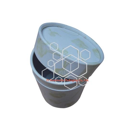 Personnalisées écologique friendly cylindre Boîtes d'emballage de papier pour cosmétiques de Parfumée Bougie