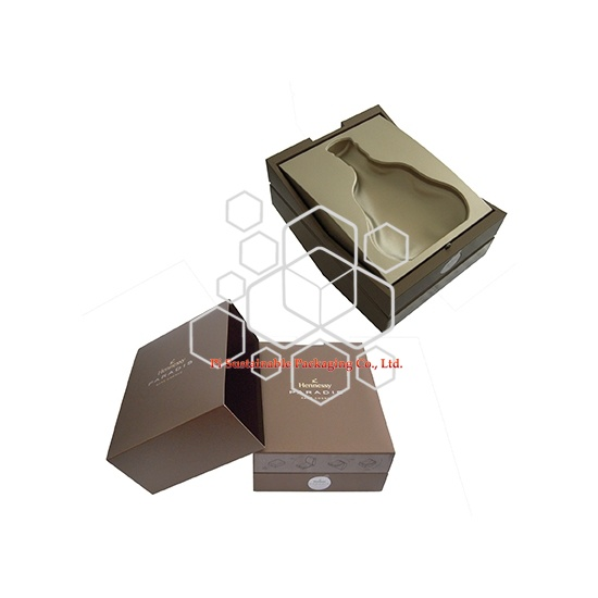 Regalo de lujo personalizado producto de vino madera embalaje cajas de suministros para Hennessy