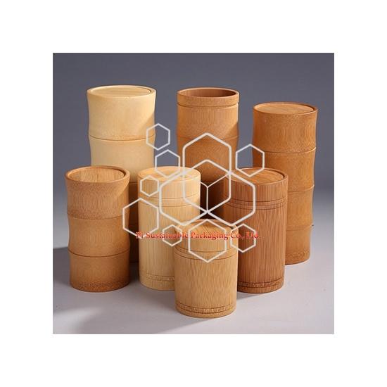 Diseño de envasado de bambú de seguridad alimentaria para cosméticos y chocolate y té