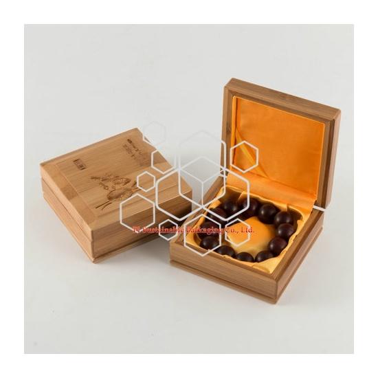 Personalizada Cajas de Regalo Joyas Lujo del Bambú Embalaje Suministros