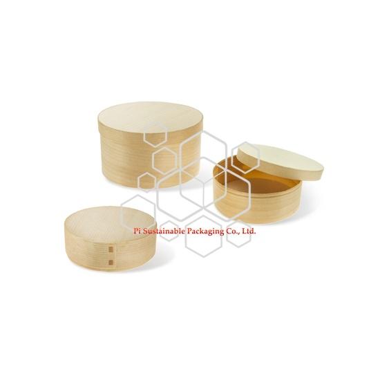Biodégradable personnalisé fait de boîtes d'emballage de qualité alimentaire en bois avec couvercle à vendre
