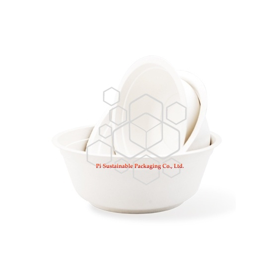 Einweg Eco freundliche Zuckerrohr Papier Zellstoff Salat Schalen Serie