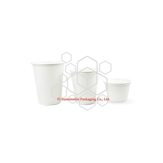 100 % 生分解性サトウキビ紙パルプ使い捨てのコーヒー カップ シリーズ