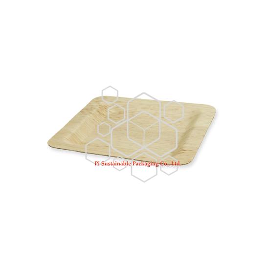 生分解性の正方形の竹の葉卸売り使い捨て可能な版