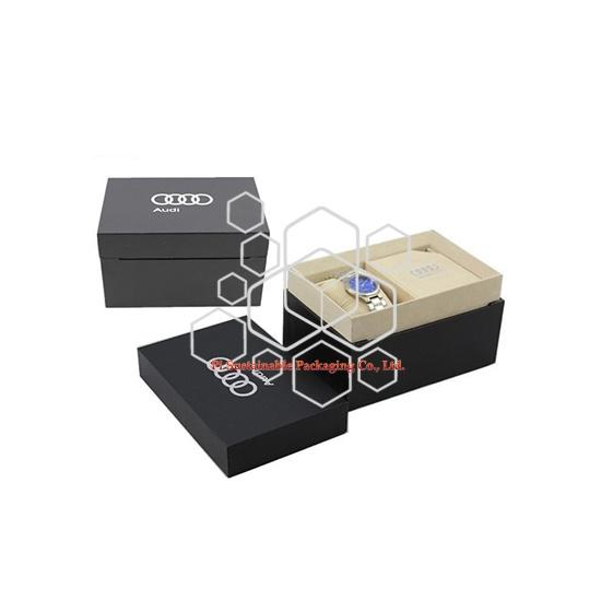 Encargo de la joyería del mens lujo reloj de madera cajas de empaquetado del regalo