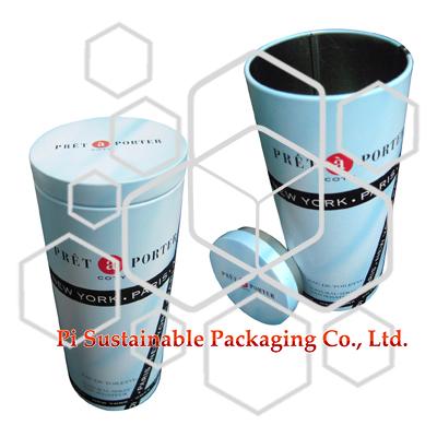 COTY Eco Elegante kleine Zylinder Zinn Kosmetik Produkt Verpackung Geschenkbox mit Deckel