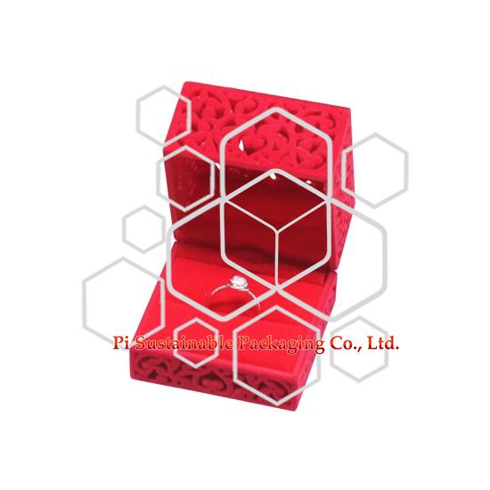 女の子のためのカスタム リング ジュエリー プラスチック製ギフト ボックス