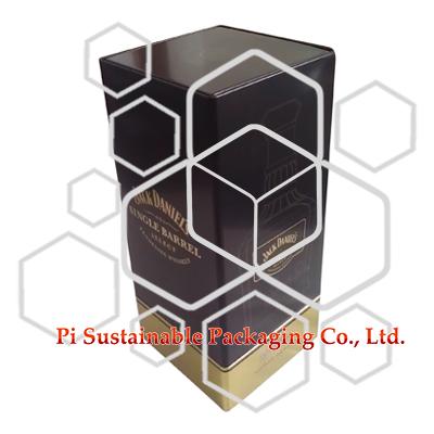 Jack Daniel leeren elegante Wein Zinn Geschenkboxen Großhandel