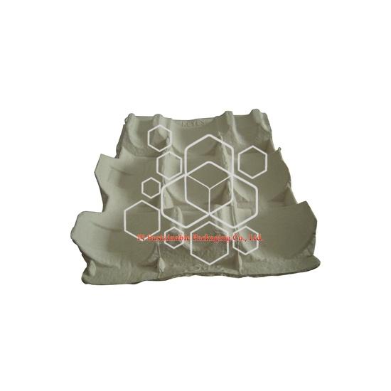 Bac à pulpe respectueux de l'environnement comme emballage industriel protecteur de boîtes à vin personnalisé
