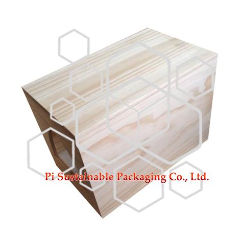 カスタム作られた未完成プレーン ワインの木箱