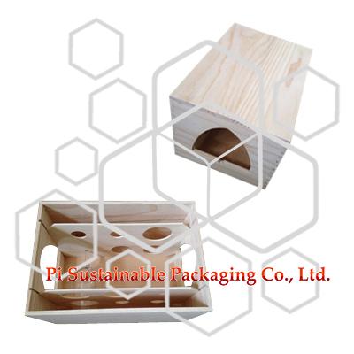 販売のための未完成の木製ワインボトル ギフト ボックス