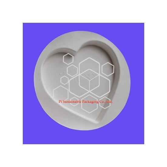 Biologisch abbaubare herzförmige leere pralinenverpackungen schachteln mit direkten Kontakt Lebensmittelverpackungen