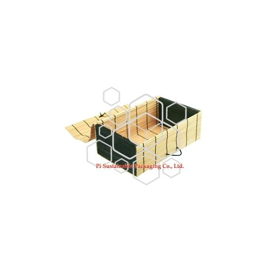 Cajas de envases de alimentos congelados de madera bambú sostenible por mayor