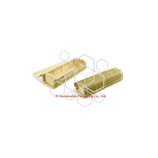 Eco bambú personalizado barato de madera comida comida segura cajas de empaquetado por mayor
