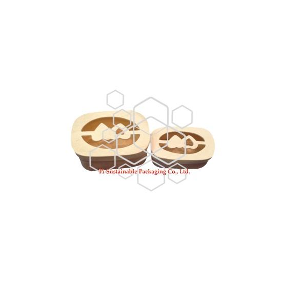 Cajas de almuerzo de madera grabado inacabado sostenible barato
