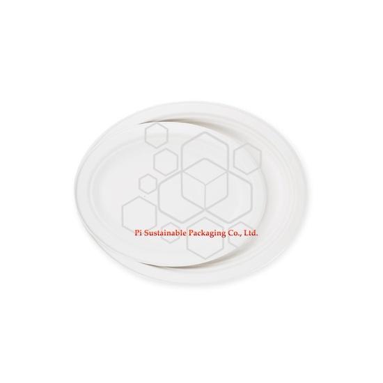 Eco amigable desechables de caña de azúcar papel pulpa placa oval serie de la Navidad