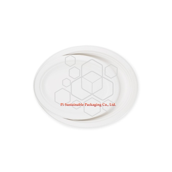 ECO freundliche Einweg Weihnachten Zuckerrohr Papier Zellstoff ovalen Platte-Serie