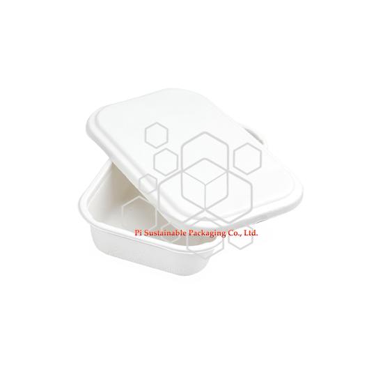 100% biodegradable comida segura de caña de azúcar pulpa papel envases con tapas