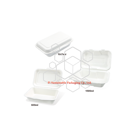 生分解性サトウキビ紙パルプ食品グレード包装容器を取る